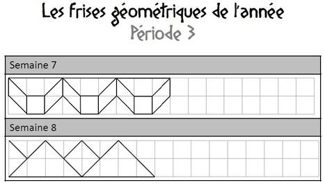 Rituel hebdomadaire de frises géométriques, CM1, CM2 | Découvertes de SitesPE | Scoop.it