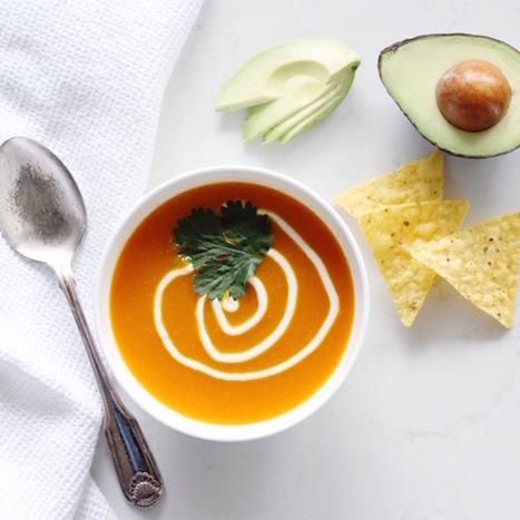 Vegan Mexican Roasted Red Pepper Soup | Vegan Food | Scoop.it