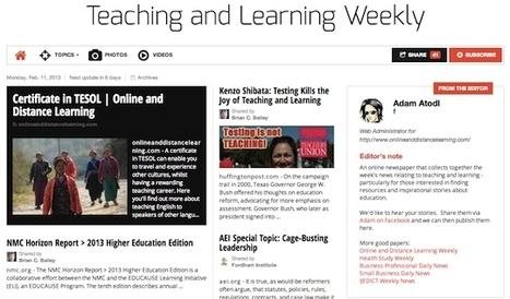 February 11, 2013: Teaching and Learning Weekly is out | Studying Teaching and Learning | Scoop.it