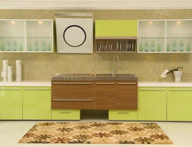 Green Brown Colors Kitchen Cabinets Ideas | Kitchen Cabinets Collection | Scoop.it