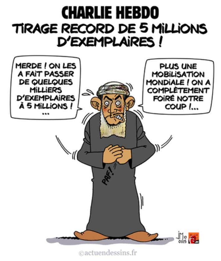Charlie Hebdo : 5 millions d'exemplaires ! | Baie d'humour | Scoop.it