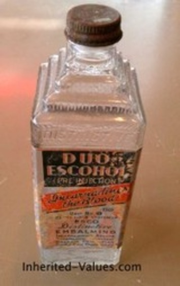 Vintage Art Deco Glass Embalming Bottle | Inherited Values | Antiques & Vintage Collectibles | Scoop.it
