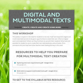 Digital and Multimodal Texts | Multimodal Text | Scoop.it