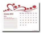2012 Calendar Templates - Download 2012 monthly & yearly templates with holidays | teaching with technology | Scoop.it