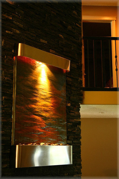 Exalted Fountains | Serene Falls Stainless Steel Home Fountain | The Beauty Of Indoor Wall Fountains | Scoop.it