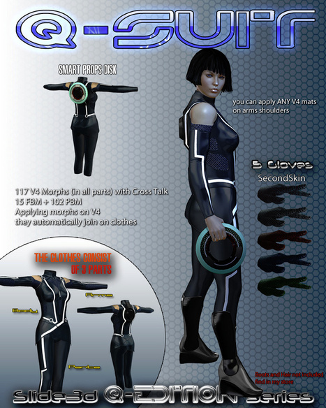 DAZ/Poser 3D content survey: Tron [MyClone Poser & Daz Studio Blog] | Wolf and Dulci Hour Links | Scoop.it