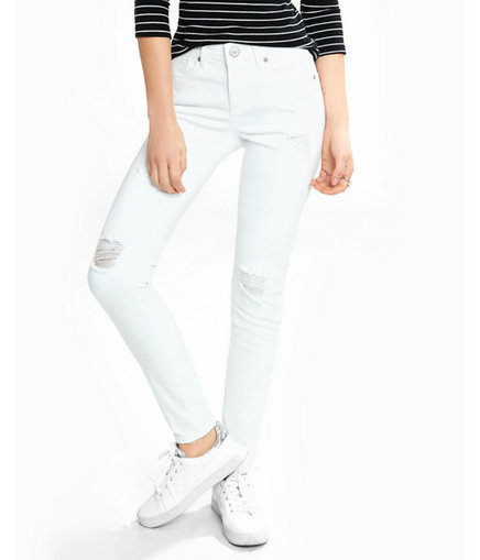 EXPRESS Women's Jean Leggings Distressed White Mid Rise Jean Legging | Jeans Fashion | Scoop.it