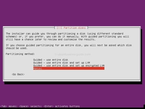 Manual Disk Partitioning Guide for Ubuntu Server Edition | Ubuntu Server Guide | Ubuntu Server | Scoop.it