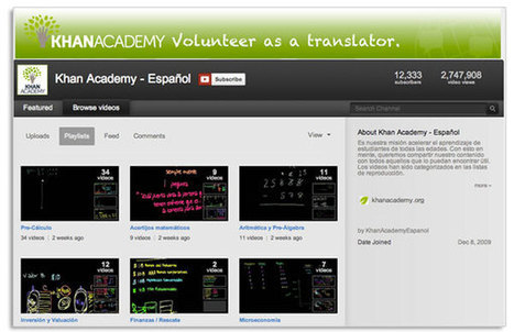 Cursos de Khan Academy traducidos al español | educacion-y-ntic | Scoop.it