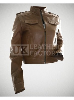 Mila Kunis - Motorbike Slim-Fit Leather Jacket | Leather Jackets | Scoop.it