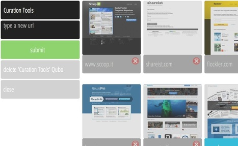 Create Curated Visual Pinboards of Your Selected Web Sites: Qubo.me | Clapps.me | Scoop.it