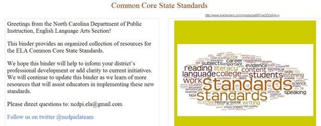 ELA Common Core State Standards Resources - LiveBinder | K-12 Research, Resources and Professional Learning Materials for English Language Arts | Scoop.it
