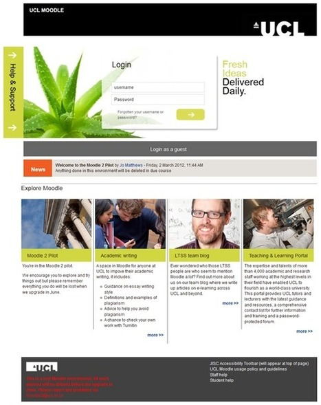 Making Moodle Beautiful – Part 2 | UCL E-Learning Environments team blog | EdTech & Ebooks | Scoop.it