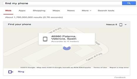 Ahora es posible encontrar nuestro móvil Android usando Google Search - Nerdilandia   El rincón de mferna   Scoop.it
