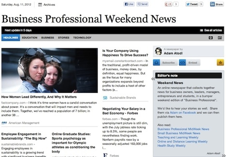 Aug 11 - Business Professional Weekend News | Business Futures | Scoop.it