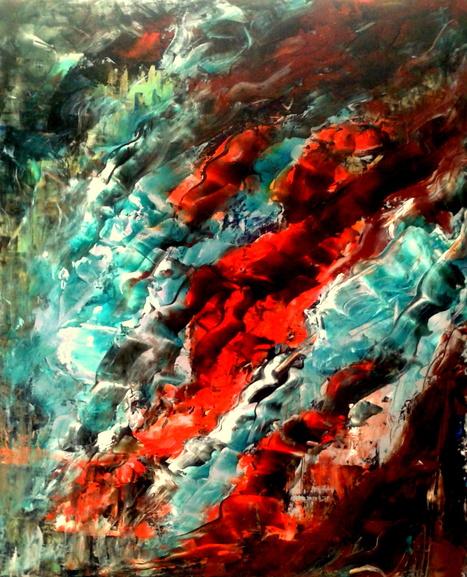 Huile sur toile au couteau | Marchini abstraction | Scoop.it