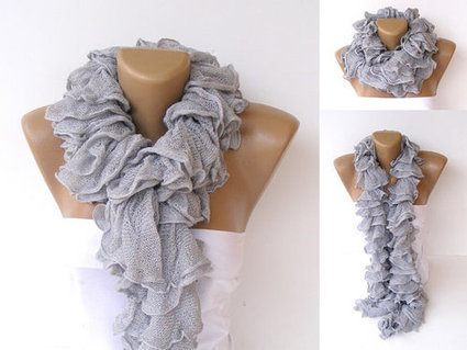 ruffle scarfknit scarvesNew Trend 2013Cotton scarfknitting by seno | HANDMADE | Scoop.it