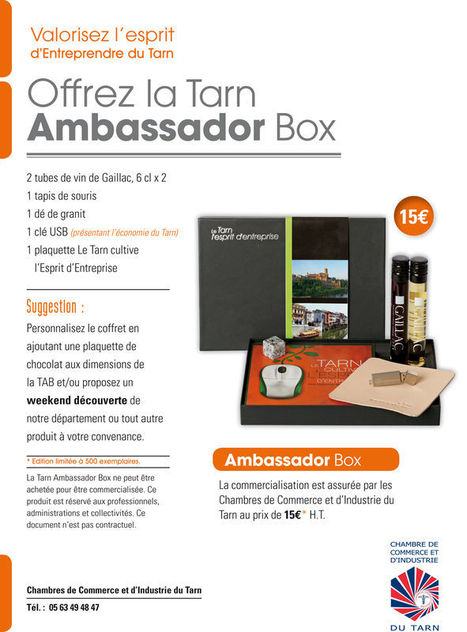 Tarn Ambassador Box | Vin en Tube | Scoop.it