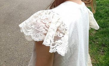 Tutorial: Lace flutter sleeve   Sew Artfully Simple   Scoop.it