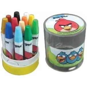 Angry Birds 12 Color Oil Pastels | Webworld | Scoop.it