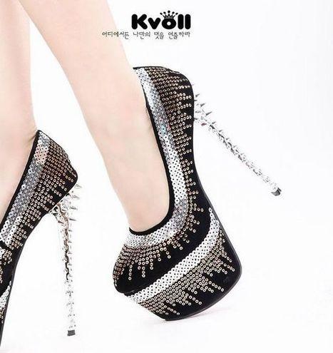 Discount China Wholesale Korean Fashion Platform Satin Sequins Rivet Kvoll D70586 [D70586]- US$23.57 - www.wholesaleshoes8.com | Kvoll | Scoop.it