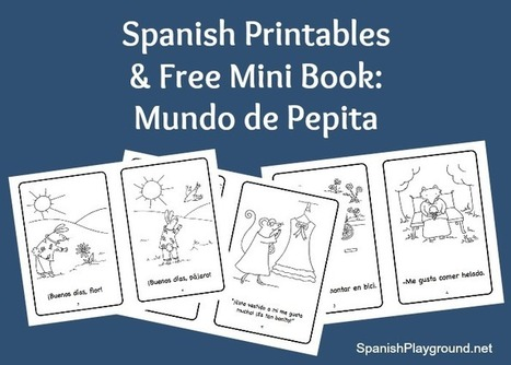 Spanish Mini Books and Activities: Mundo de Pepita - Spanish Playground | Preschool Spanish | Scoop.it