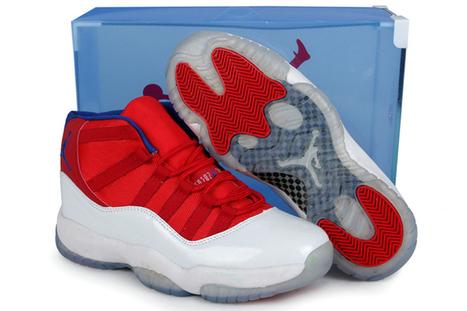 "Retro Jordan Shoes 11 ""Bred"" Red White Blue Mens(Transparent Packaging) | popular list | Scoop.it"