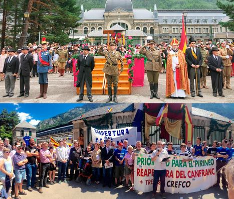 Fiesta y reivindicación para abrir Canfranc | Cultura de Tren | Scoop.it