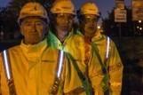 Road workers get battery-powered hi-vis gear