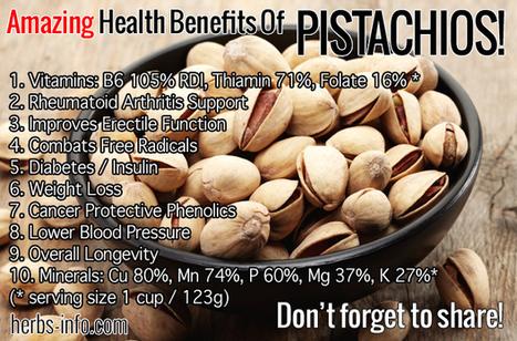 Top 10 Amazing Health Benefits Of Pistachios | Shrewd Foods | Scoop.it
