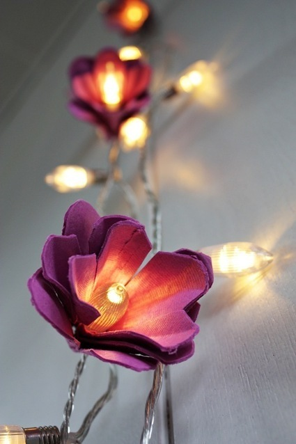 [DIY] EGG CARTONS FLOWER LIGHTS | Artdictive Habits : Sustainable Lifestyle | Scoop.it