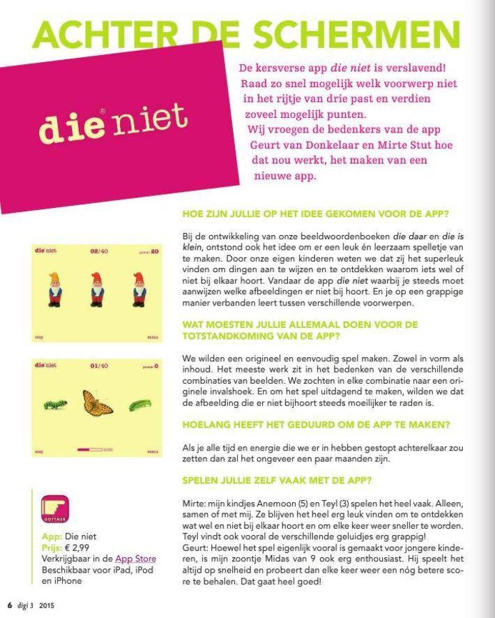 'die niet': app voor 3 - 13 jaar - raad welk plaatje er niet bijhoort. | Apps voor kinderen | Scoop.it