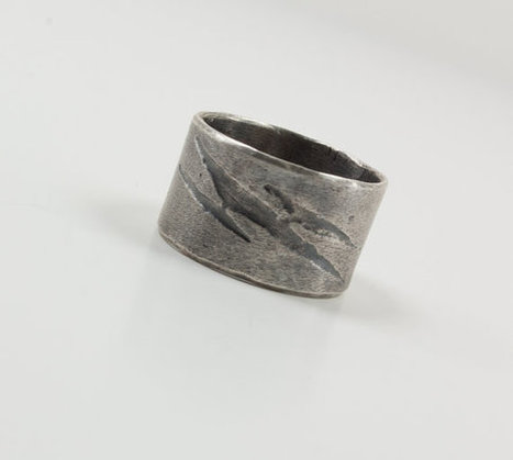 Mens Wedding Band Ring Sterling Silver Ring Mans Ring Lightening Bolt Ring Mens Single Band by UrbanJule | Handmade Jewelry | Scoop.it
