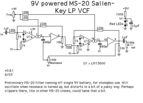 9V powered Korg MS-20 filter | DIY Music & electronics | Scoop.it