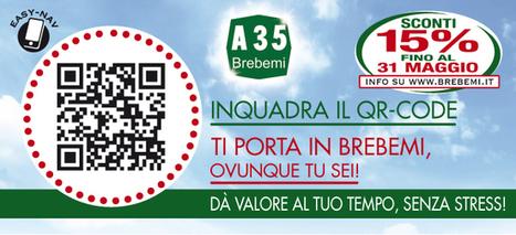 Un QR CODE per trovare l'entrata dell'AUTOSTRADA A35 Brebemi. | QRCODE_ITALY | Scoop.it