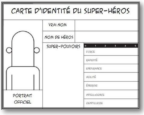 Carte d'identité de super-héros | La bande dessinée FLE | Scoop.it
