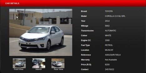 Car for sale in Oman | Cars | Scoop.it