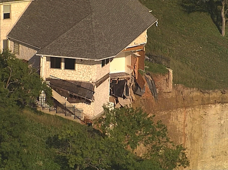 House Continues Falling Off 70-Foot Cliff, Into North TexasLake - CBS Dallas / Fort Worth   QwikWash America! In Our Community   Scoop.it