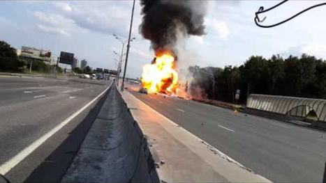 Watch this truck explode an astounding 39 times | Strange days indeed... | Scoop.it