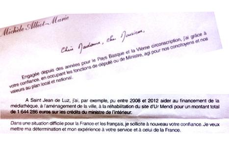 Quand Alliot-Marie invoque la manne du ministère de l'Intérieur   Nouvelles et actus   Scoop.it
