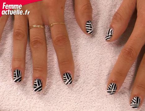 Vidéo : nail art graphique | Fashion-Art, Beauté & Déco | Scoop.it