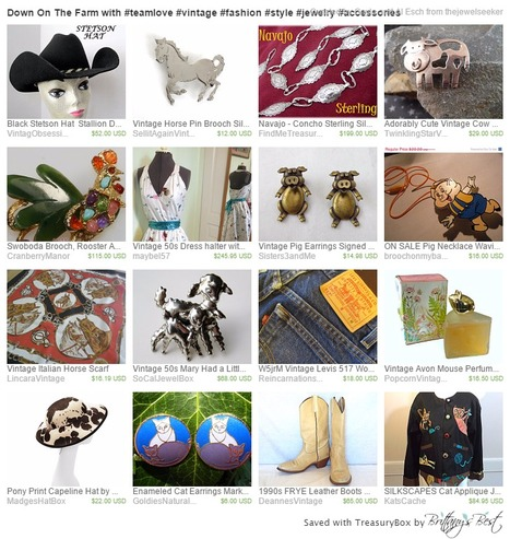 Down On The Farm with #teamlove #vintage #fashion #style #jewelry #accessories by Gayla and Al Esch on Etsy | teamlove jewelry | Scoop.it