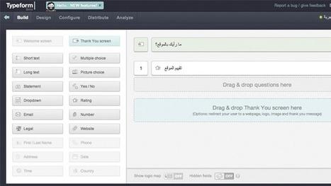 Typeform un service simple et ergonomique pour créer des formulaires très complets | Les outils d'HG Sempai | Scoop.it