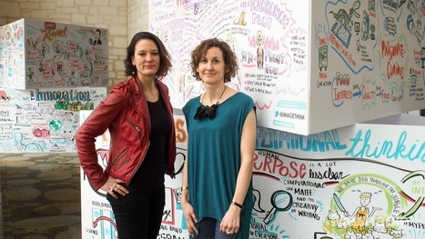 The women who draw SXSW | Graphic Facilitation | Scoop.it