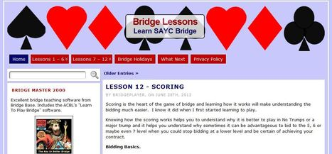 Bridge Lessons | Learn Acol Bridge | Scoop.it