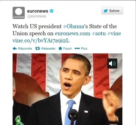 Euronews teste un service d'information sur l'application vidéo de Twitter | My Social Network | Scoop.it