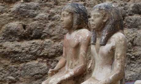 Statues of 5th dynasty top officials discovered in Abusir - Ahram Online | Archeology on the Net | Scoop.it
