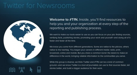 Twitter for Newsrooms: Assistance in digital media transition - TNW | Brand & Content Curation | Scoop.it