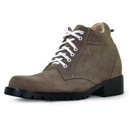 Khaki men height enhancing boots that make you taller 9cm / 3.54inch | Elevator Height Boots for Men Taller | Scoop.it