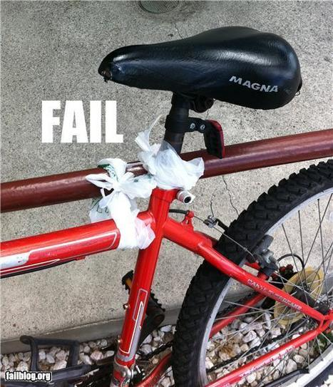Bicycle Security FAIL - Epic Fail Funny Videos and Funny Pictures | Fail | Scoop.it